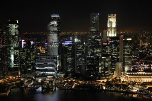 Impressive Singapore Skyline at Night